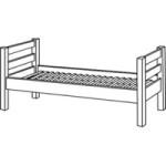 halvhøj seng  (foto: traevarer.dk)
